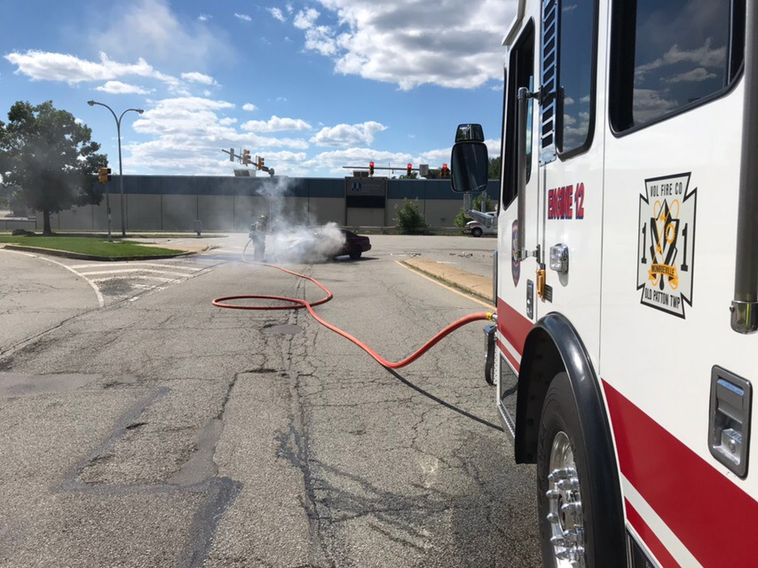 Vehicle Crash with Fire on Mall Boulevard
