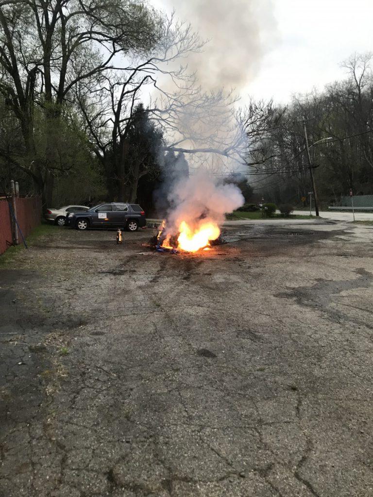 Tesla Vehicle Fire